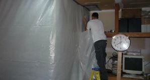 Sealing Off Mold With A Vapor Barrier