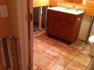 Bathroom Flood Cleanup